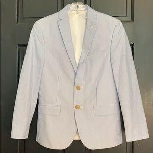 Ralph Lauren blue white seersucker blazer 12R